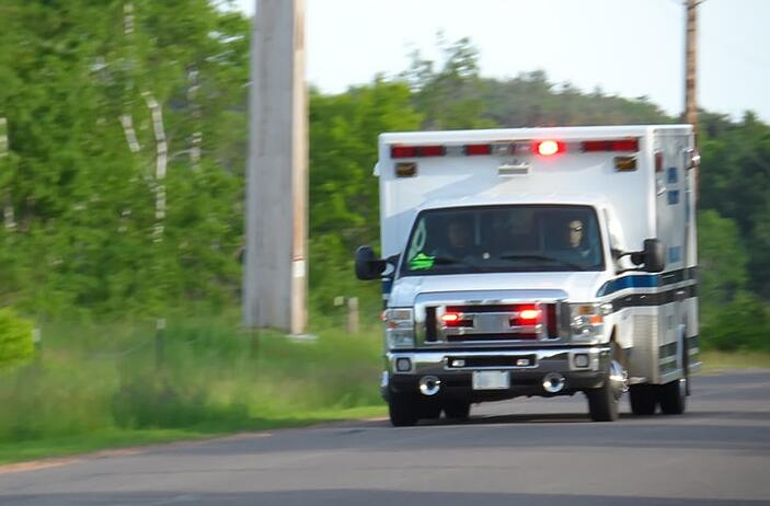 Ambulance driving down the road   Is Your Emergency Unit Ready for Respiratory Emergencies?