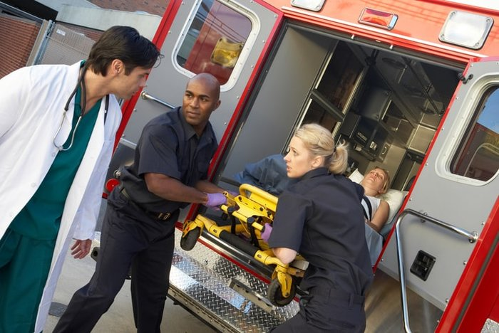 Paramedics at an emergency scene   Every paramedic's plan for respiratory arrest