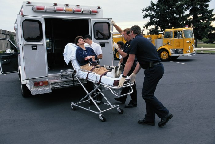 Patient entering ambulance   Gauging departmental needs for portable EMS suction units